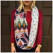 Multi Color Aztec Knit Infinity Scarf