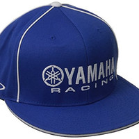Factory Effex 'Yamaha Racing' Flex-Fit Hat (Blue, Large/X-Large)