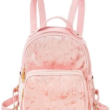 Velvet Mini Backpack - Blush