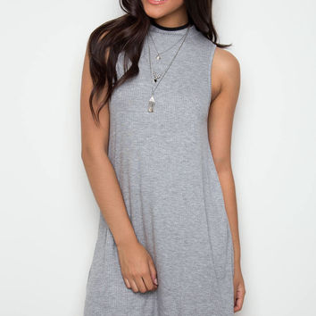 Say It Swing Dress - Gray