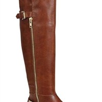 Buckle Back Riding Boots - Brown