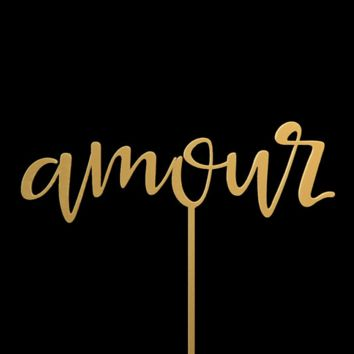 Amour | Cake Topper