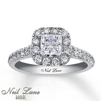 Neil Lane Bridal Ring 1 1/2 ct tw Diamonds 14K White Gold