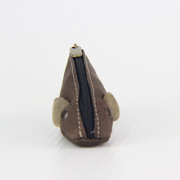 DARK MOUSE CORK COIN PURSE