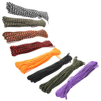100FT 7 Cord Strand Paracord 550 Parachute Cord Lanyard Rope Cuerda EDC GEAR Carabiner Camping Survival Kit Equipment