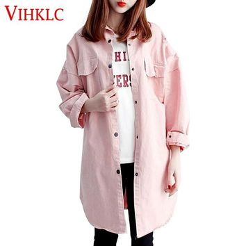 Women Trench Coat 2017 Korean Spring Autumn Casual Outwear Loose Trench Coat 3 Color Fashion windbreaker female Large Size A601