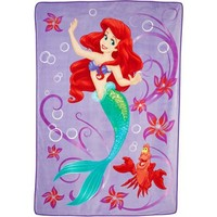 Disney Little Mermaid Twin Blanket - Walmart.com