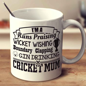 Gin Drinking Cricket Mum
