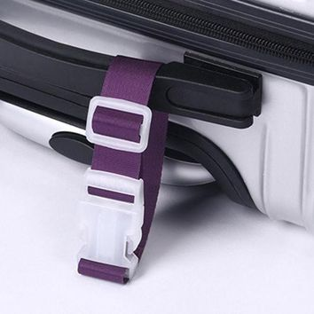 ICIK272 New 1pc Portable Travel Hanging Belt Luggage Suitcase Bags Anti-lost Clip Hanger Buckle for Luggage