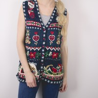 Vintage Knit Vest Ugly Christmas Sweater