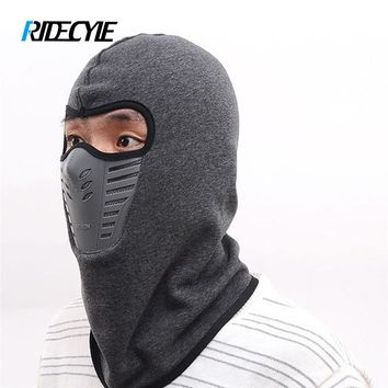 RIDECYLE Winter Cycling Sport Face Windproof Protective Mask Shield Men Bandana Outdoor Ski Facemask Anti Dust Bike Bicycle Mask