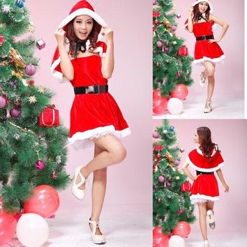 ac DCK83Q Cute Hot Deal On Sale Sexy Halloween Costume Christmas Red Exotic Lingerie [10236801356]