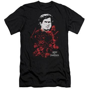 Mgm - Army Of Darkness - Pile Of Baddies Premium Canvas Adult Slim Fit 30/1 Shirt Officially Licensed T-Shirt