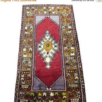 ON SALE Vintage Turkish Oushak Rug 71x 38 inches Free Shipping