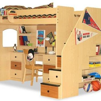New Rutger's Stairway Loft Bed