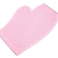 Roma Rubber Grooming Mitt Pink Large
