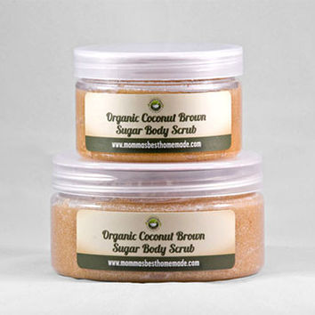 Tropical Organic Coconut Brown Sugar Body Scrub
