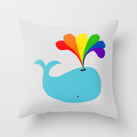 Magic Spout Throw Pillow by Beth Thompson