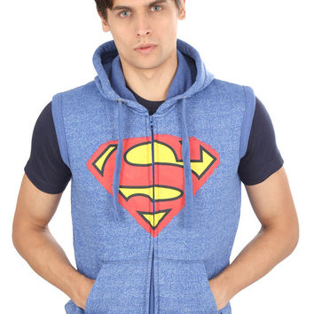 Classic Superman Logo Sleeveless Hoodie