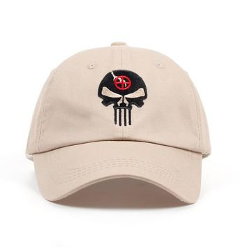 Trendy Winter Jacket 100% Cotton Embroidered Hero US Punisher SKULL Logo Baseball Cap Tactics Snapback Hats Outdoor Casual Sport Dad Hat High Quality AT_92_12