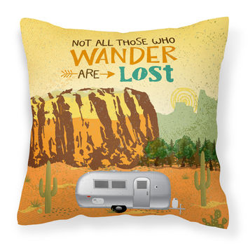 Airstream Camper Camping Wander Fabric Decorative Pillow VHA3026PW1818