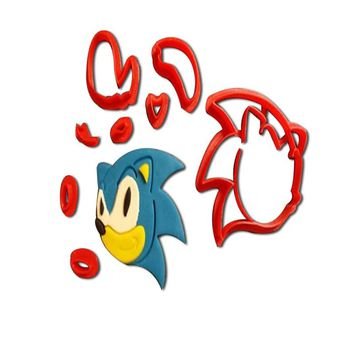 Cartoon TV Animal Sonic Hedgehog Cookie Cutters Custom Made 3D Printed Fondant Cupcake Top Cookie Cutter Tools for Cake Moulds