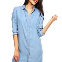 Relaxed Denim Shirt Dress