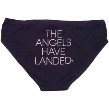 "Victoria's Secret Cotton Bikini ""The Angels Have Landed"" On Rear Underwear"