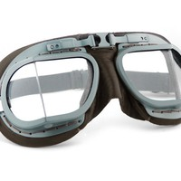 HALCYON Mk 8 RAF Pilot goggles, Brown Leather | Motociclo