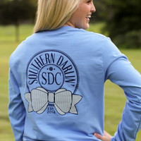 Southern Darlin' - Round Bow Long Sleeve Tee
