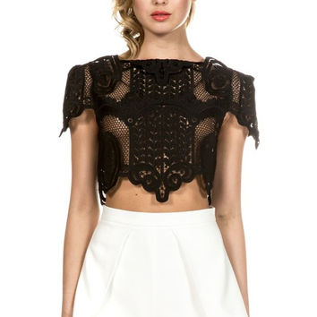 Baroque Affair Lace Crop Top (more colors)
