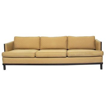 Pre-owned Milo Baughman Style Modernist Geometric Sofa