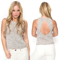 Bermuda Open Back Knit Tank