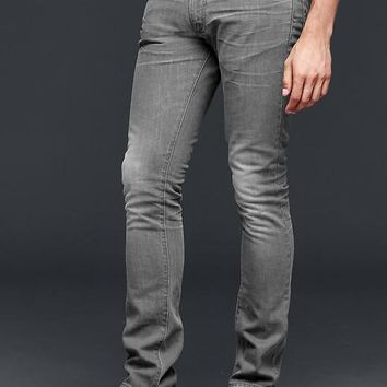 Gap Men 1969 Soft Skinny Fit Jeans Scraped Grey