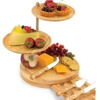 Picnic Time Regalio 11-1/2-Inch Cheese Board/Tool Set