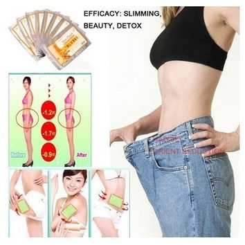(Bags of 20 / Patches) Fashion Male / Female Shuishui Lose Weight  Slimming Stickers (Color: White) = 1958381444