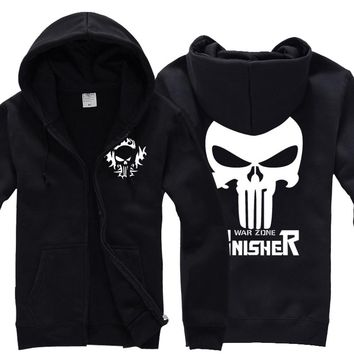 [XHTWCY] The Punisher No Sweat Skull Logo Men Adult Hoodie Marvel Comics Seal team shirt