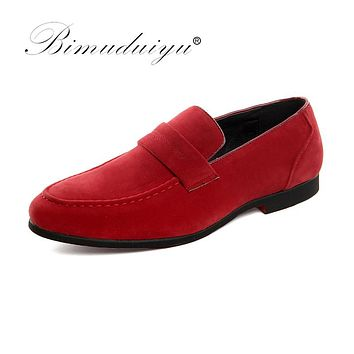 Luxury Men Shoes Fashion Design Male Shoes Slip-on Party Wedding Dress Oxfords Scrub Casual Shoes
