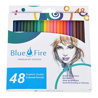 BlueFire Colored Pencils. Coloring Pencils For Adults and Children. 48 Vibrant Colors! Create Beautiful Original Drawings or Stunning Coloring Book Art!