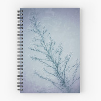 'Seeds of Weeds in Vintage Blue ' Spiral Notebook by Leah McPhail