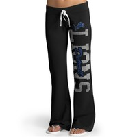 Womens Detroit Lions '47 Brand Black Pep Rally Pants