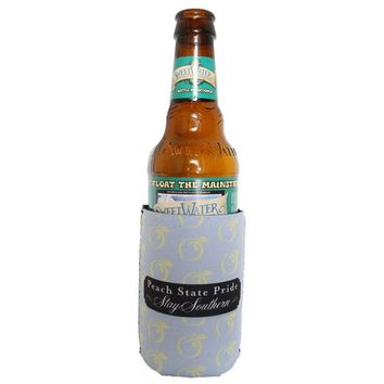 Peaches Can Holder in Ice Blue & Yellow by Peach State Pride