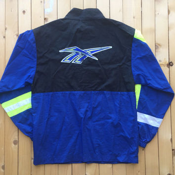 Vintage Neon Reebok Windbreaker Jacket Women Men Unisex Clothing
