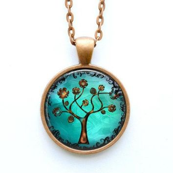Copper Tree Necklace - Whimsical Fantasy Tree of Life Artisan Jewelry Gift for Her