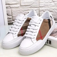 Burberry Women Fashion Simple Casual Low-Top Old Skool Shoes