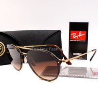 RAY-BAN 4292 N 710/13 Double Bridge Blaze Sunglasses Tortoise ~ Gold ~ 62mm NEW