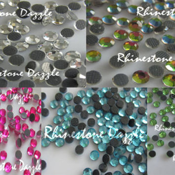 10 000pcs Hotfix ss10 Crystal Rhinestones, 5 colors, 10 000pcs Hotfix 3mm Crystal Rhinestones, 2000pcs each color, bulk rhinestones