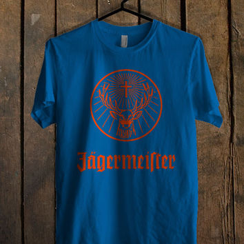 Jagermeister Blue Mens T Shirt **