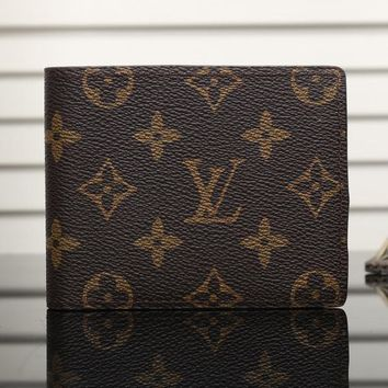 LV Man Leather Purse Wallet