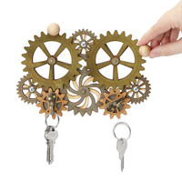 Kinetic Gear Key Holder | steampunk style, gift